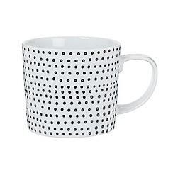 Debenhams - Porcelain black 'Helsinki' mug