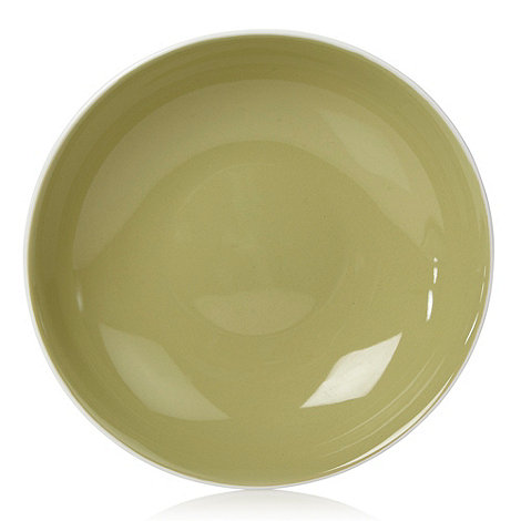 Home Collection Basics - Stoneware green two-toned pasta bowl