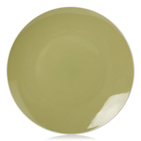 Home Collection Basics - Stoneware green two-toned dessert plate