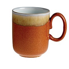 Denby - Orange 'Fire' double dip print mug