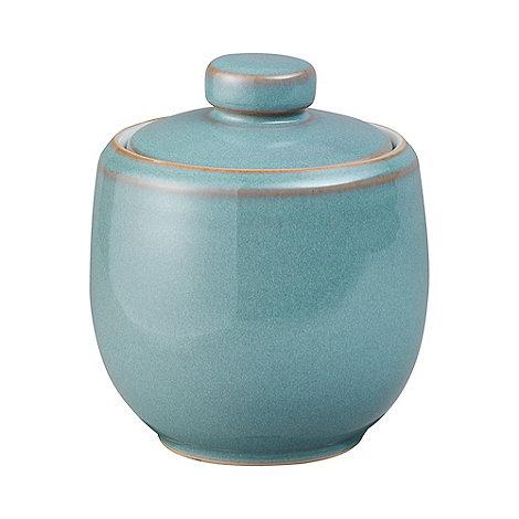 Denby - Aqua glazed +Azure+ sugar bowl with lid