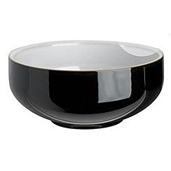 Denby - Black glazed 'Jet' cereal bowl