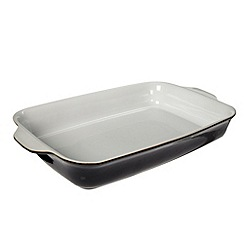 Denby - Black 'Jet' large oblong roasting dish