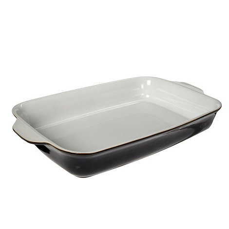 Denby - Jet black large oblong dish