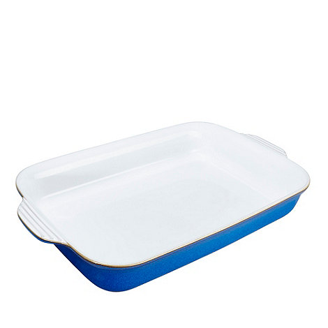 Denby - Stoneware +Imperial Blue+ large oblong dish