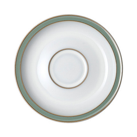 Denby - Glazed +Regency Green+ tea saucer