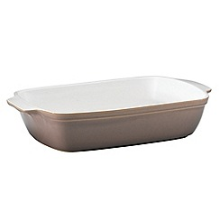 Denby - Stoneware 'Truffle' large oblong dish