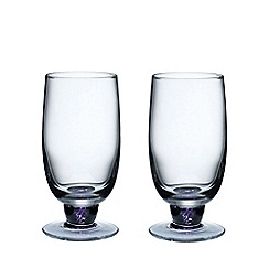 Denby - Pair of 'Amethyst' large tumblers