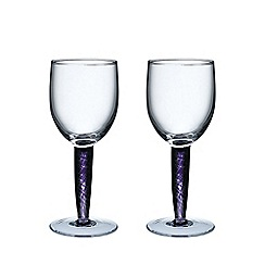 Denby - Pair of 'Amethyst' White wine glasses