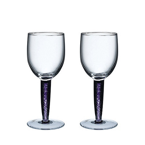 Denby - Pair of +Amethyst+ White wine glasses