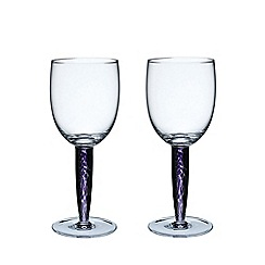 Denby - Pair of 'Amethyst' red wine glasses