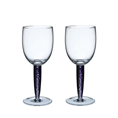 Denby - Pair of +Amethyst+ red wine glasses