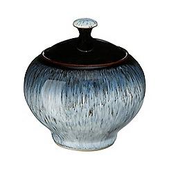 Denby - Halo rimmed sugar bowl with lid