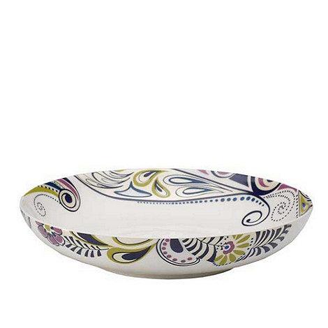 Denby - White +Monsoon Cosmic+ pasta bowl