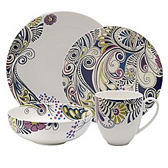 Denby - Sixteen piece 'Monsoon Cosmic' dinnerware Set