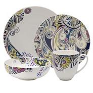 Denby sixteen piece 'Monsoon Cosmic' dinnerware set