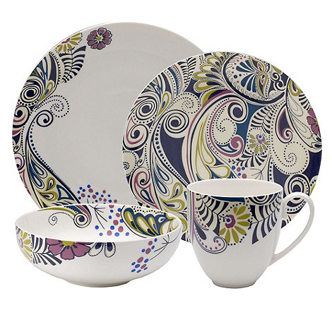 Denby - Sixteen piece +Monsoon Cosmic+ dinnerware Set
