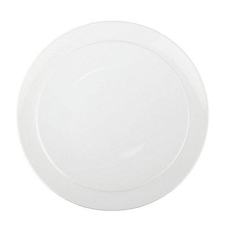 Denby - Glazed +White+ coupe dinner plate