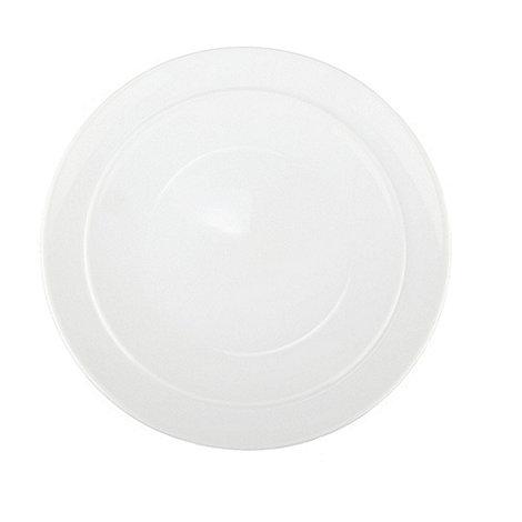 Denby - Glazed +White+ coupe dessert plate