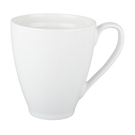 Denby - Glazed +White+ coupe mug