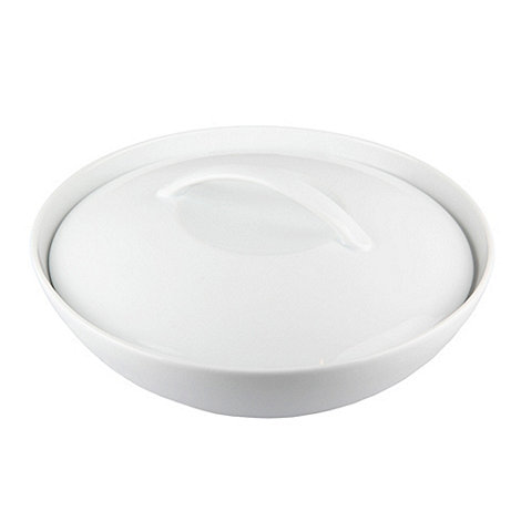 Denby - Glazed +White+ coupe large bowl with lid