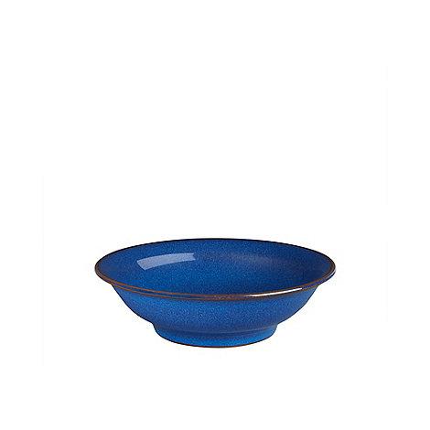 Denby - Glazed +Imperial Blue+ shallow cereal bowl