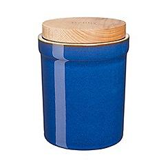 Denby - stoneware Imperial blue storage jar