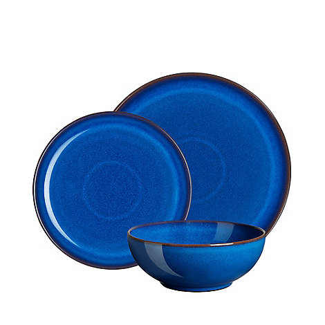 Denby - Glazed +Imperial Blue+ 12 piece dinnerware set