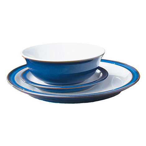 Denby - Blue +Imperial+ twelve piece dinnerware set