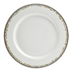 Denby - White 'Monsoon Daisy' border dinner plate