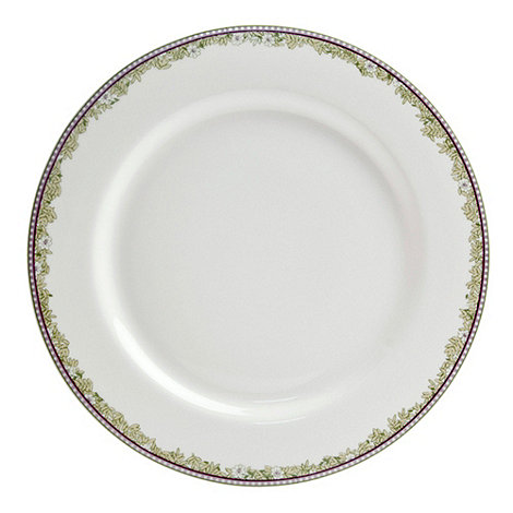 Denby - White +Monsoon Daisy+ border dinner plate
