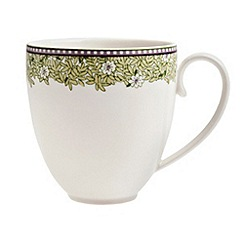 Denby - White 'Monsoon Daisy' large mug
