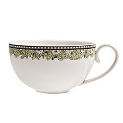 Denby - White 'Monsoon Daisy' border tea cup