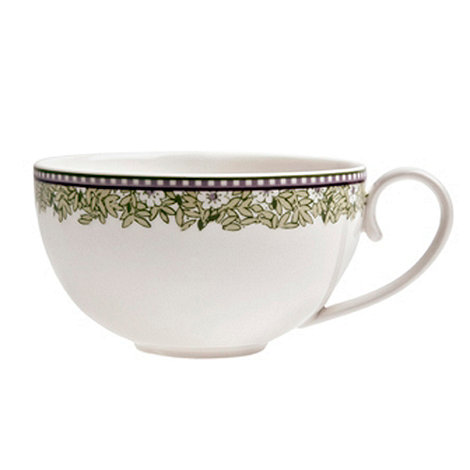 Denby - White +Monsoon Daisy+ border tea cup