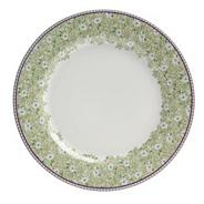 White 'Monsoon Daisy' border salad plate