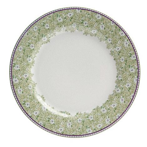 Denby - White +Monsoon Daisy+ border salad plate
