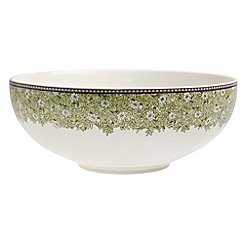 Denby - White 'Monsoon Daisy' border serving bowl