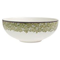 Denby - White 'Monsoon Daisy' border serving bowl