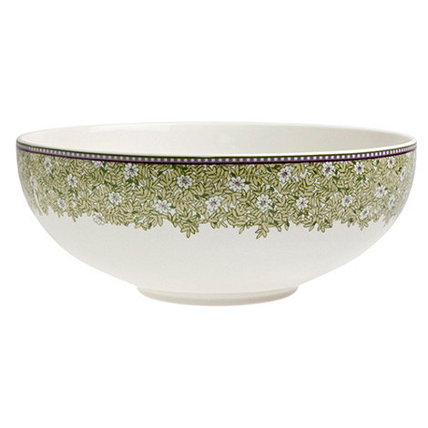 Denby - White +Monsoon Daisy+ border serving bowl