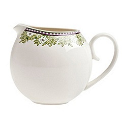 Denby - White 'Monsoon Daisy' small jug