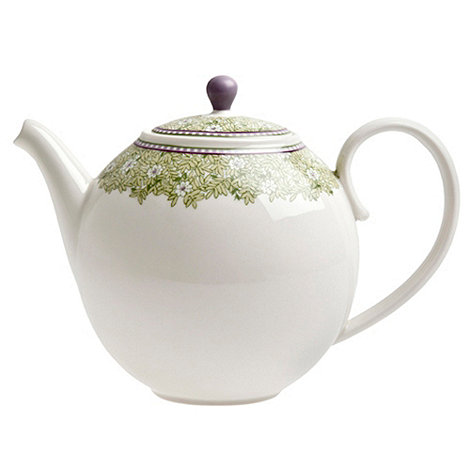 Denby - White +Monsoon Daisy+ border teapot