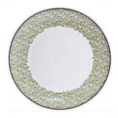Denby - White 'Monsoon Daisy' border platter