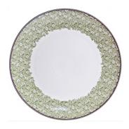 White 'Monsoon Daisy' border platter