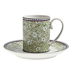 Denby - White 'Monsoon Daisy' espresso cup and saucer