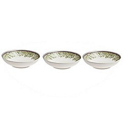 Denby - White 'Monsoon Daisy' set of three dipping bowls