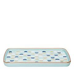 Denby - Blue 'Heritage Pavilion Accent' rectangular plate