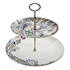 Denby - White 'Cosmic' cake stand