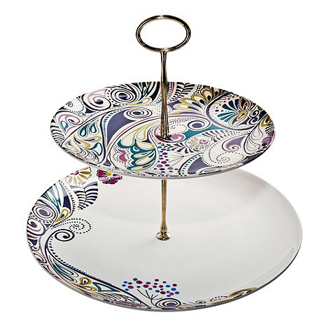 Denby - White +Cosmic+ cake stand