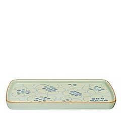 Denby - Pale green 'Heritage Orchard Accent' rectangular plate