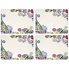 Denby - Pack of 4 cream 'Monsoon Cosmic' placemats